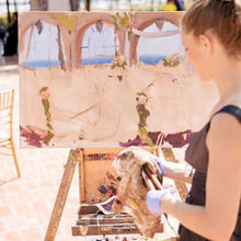 Photo of Laura Jane Fine Art | Live Wedding Painter in Santa Ana, CA