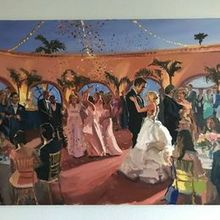 Photo of Laura Jane Fine Art | Live Wedding Painter in Santa Ana, CA - The final product from the reception!