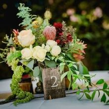 Photo of Cambria Nursery and Florist in Cambria, CA - One of the guest table centerpieces