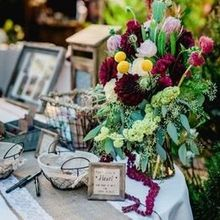 Photo of Cambria Nursery and Florist in Cambria, CA - The bouquet at the reception enterance