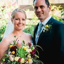 Photo of Cambria Nursery and Florist in Cambria, CA - Bridal bouquet and groom's boutonniere