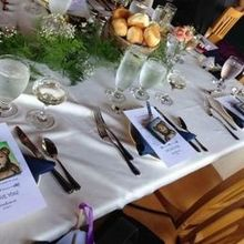 Photo of Diane's Floral Designs in Albany, NY - Part of long table - greenery