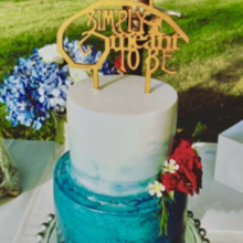 Photo of Sweet Dreams Wedding Cakes and Flowers in Oakhurst, CA - Our ombré toffee wedding cake