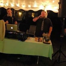 "Photo of Crow Entertainment LLC in Huntingtown, MD - DJ Mike & Wedding Officiant singing ""Under The Bridge- RHCP"