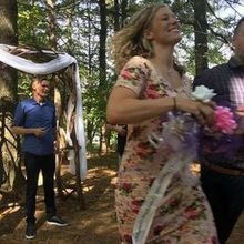 Photo for Mountain Memories at ThorpeWood Review - rehearsal, happy bride, skipping back down the aisle