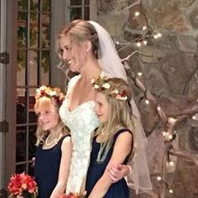 Photo for Mountain Memories at ThorpeWood Review - bride with jr. bridesmaids, exterior of lodge