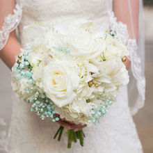 Photo for Blooming Accents, Inc. Review - My BEAUTIFUL bouquet with baby's breath and diamond dust.