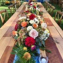 Photo for Dover Rent-All Tents & Events Review - Harvest tables and rustic chairs