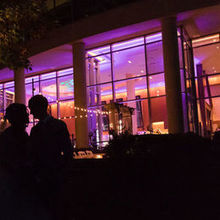 Photo of 2941 Restaurant in Falls Church, VA - View of the venue at night with the uplighting our DJ did.