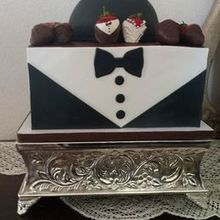 Photo for Milly's Sweet Creations Review - Precious Mickey Mouse in tuxedo. Delicious chocolate cake.