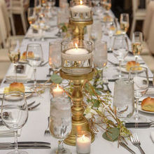 Photo of Carl Alan Floral Designs Ltd. in Philadelphia, PA - Long Tables (2): Branches and flowers with candle holders