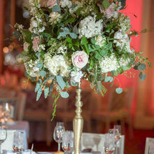 Photo of Carl Alan Floral Designs Ltd. in Philadelphia, PA - Table 3: The dramatic look! Flowers on a candelabra