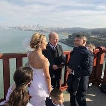 Photo for Bay Area Ceremonies - Wedding Officiant Review - Our vow renewal on The Golden agate Bridge, SF