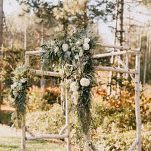 Photo of SHE Luxe Weddings & Design in Portland, ME - Custom birch arbor