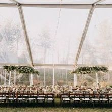 Photo of SHE Luxe Weddings & Design in Portland, ME - The tent w/ custom hanging greenery.