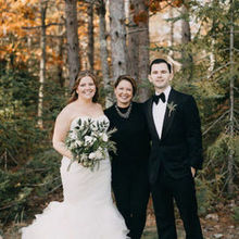 Photo of SHE Luxe Weddings & Design in Portland, ME - Heidi with us before the ceremony!