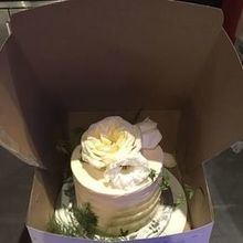 Photo for Stephanie's Secret Garden Review - cake topper lost & Stephanie saved the day with flowers!