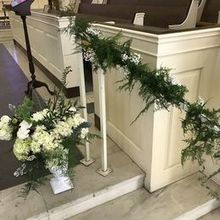 Photo for Stephanie's Secret Garden Review - this urn was placed on a pillar for the service