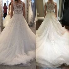 Photo for ieie Bridal Review - Left is the original dress I tried on. Right is from Ieie!