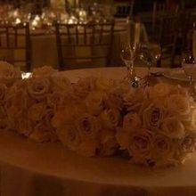 Photo for Urban Flower Market Review - Bridesmaids' bouquets re-purposed on sweetheart table