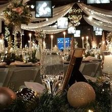 Photo for Prime Time Party Rental Review - Christmas bulbs/greenery set off the sparkle white runners