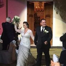 Photo for IL Villaggio Elegant Weddings and Banquets Review - Coming into the ballroom as Mr. & Mrs.!