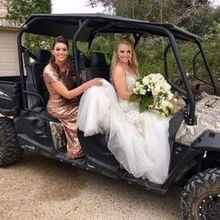 Photo for Rancho Mirando Luxury Guest Ranch Review - Golf cart escort to the ceremony by Ms. Donna!