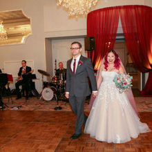 Photo for Satin Chair Rental - Wedding & Event Decor Chicago-Naperville Review - The burgundy canopy was a hit!