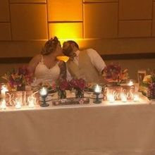 Photo for Lorraine's Flowers Review - Bride and Groom table