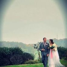 Photo for On Sunny Slope Farm Review - Walking down the aisle in a light drizzle.