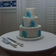 Photo of Kakes by Karen, LLC in Naples, FL - This was the actual cake, beautiful!  Our guests enjoyed!!