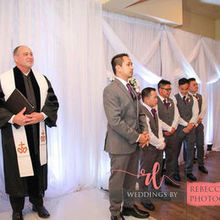 Photo for Andrews Wedding Ceremonies LLC Review - Charles Luke standing next to the Groom and Groomsmen.