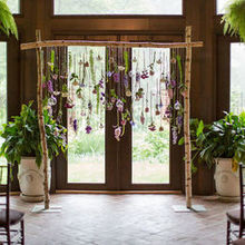 Photo of Fleur De Lis Florist in Baltimore, MD - our trellis with candles that were lit during the ceremony