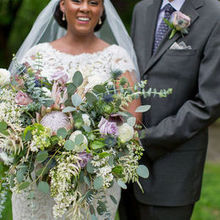 Photo of Fleur De Lis Florist in Baltimore, MD - another view of my bouquet and my husband's boutonniere