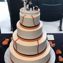 Photo of Desserts By Rita in Havre de Grace, MD - Baltimore Orioles theme.. We provided the cake topper :).