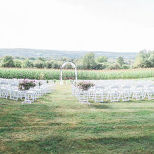 Photo of Red Barn 20 at Windridge Estate in Cazenovia, NY - Simple set up. With a backdrop like this you don't need much