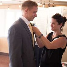 Photo for Bend Weddings and Events Review - Magadalyn of Bend Weddings & Events pinning on a corsage.