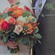 Photo for Garden Gate Flowers Review - Bride's Bouquet and Groom's Succulent Boutonniere