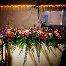 Photo of Creative Muse Floral Design in Bakersfield, VT - The gorgeous headtable by Creative Muse Floral Design.