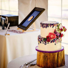 Photo of Creative Muse Floral Design in Bakersfield, VT - Great use of florals in the cake.