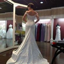 Photo for Soliloquy Bridal Couture Review - Gown customization (back, lace panel)