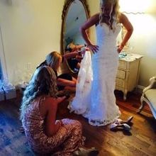 Photo for Bluemont Vineyard Review - Amy bustling my dress =)