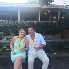 Photo for Plantation Gardens Restaurant & Bar Review - Guests enjoyed cocktails and the Koi Pond. Lanai behind them