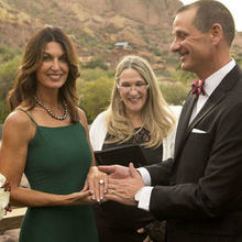Photo of Beautiful Weddings Officiant - Rev. Debbi Brown in Phoenix, AZ - Christmas wedding at Sanctuary