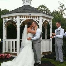 Photo of Georgina's Weddings & Banquets in Bolton, CT - Gorgeous outside gazebo and grass area for the ceremony.