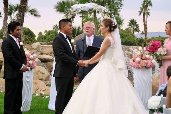Photo Of Thomas Lang Retired Judge Wedding Minister In Palm Springs CA
