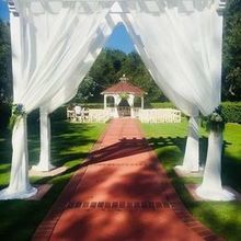 Photo for Bellarue Events & Floral Design Review - Gorgeous chiffon draping and florals by Amy Foster.