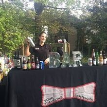 Photo for Your Traveling Bartender, LLC Review - Backyard bar setup for our evening reception!