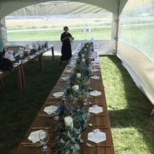 Photo for Settings Event Rental Review - Tent, tables, and cutlery Settings Event Rentals