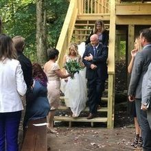"Photo of Oak & Honey Events in Sagamore Hills, OH - Melanie held my train as I walked down the ""aisle"""